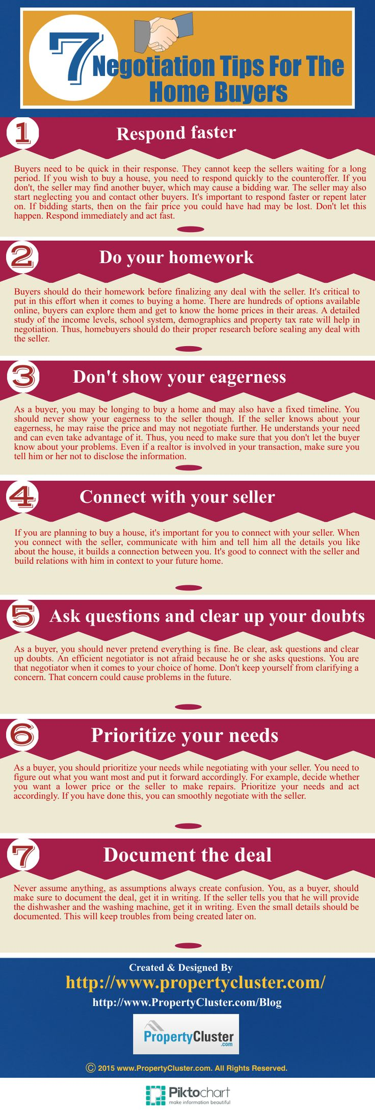 Here we offer some negotiation tips for the home buyers to simplify the deal-making process and help them strike a winning deal.