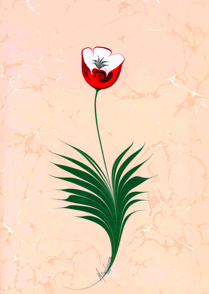 poppy marbling