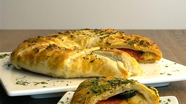 Blätterteig-Pizza-Ring