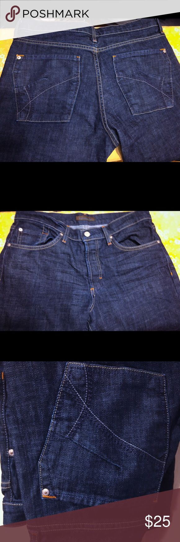 James Dark Denim Jeans These are dark denim jeans, in great condition no rips or stains. Nice pair of jeans goes with anything. Everyone needs a pair of dark denim jeans in their closet. All reasonable offers accepted James Jeans Jeans Straight Leg