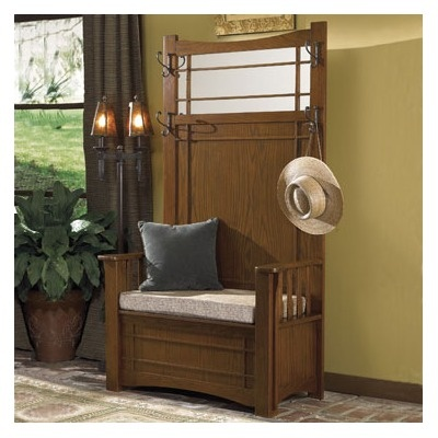 Mission Style Hall Tree Free Plans Woodworking Projects