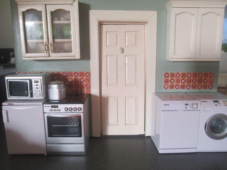 .Miniature kitchen in progress.