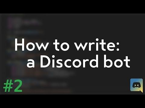 How to make your own Discord bot! (Discord py tutorial) #2