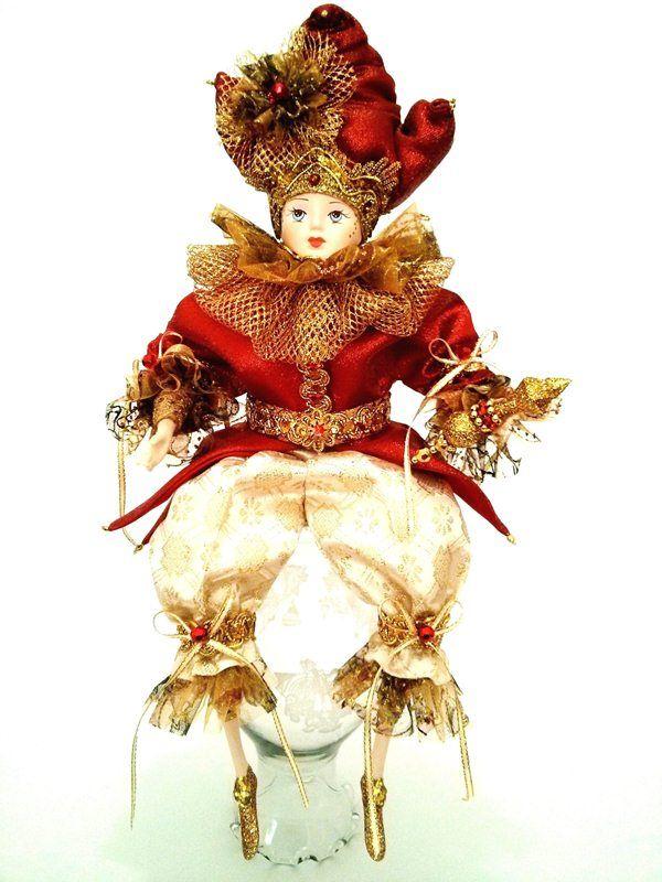 Arlequin Yusef realizado por nancy creaciones , arlequin navideño para tu hogar. cali - colombia