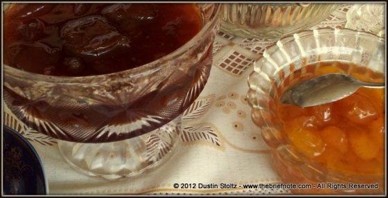 Assortment of jam's for tea. Zaqatala, Azerbaijan