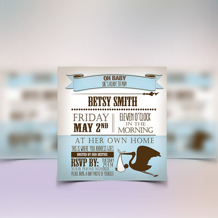 These boy baby shower invitations form part of a party printables package from www.concept-designs.com.au. Email us today - info@concept-designs.com.au