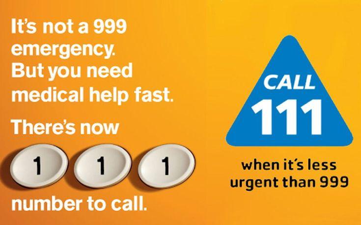 Erfahrung mit der 111 NHS Hotline