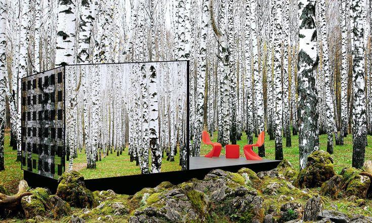 V lesích uGrand Marais vyrostla zrcadlová buňka určená pro ekologickou rekreaci