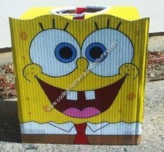 Homemade DIY Spongebob Halloween Costume Idea
