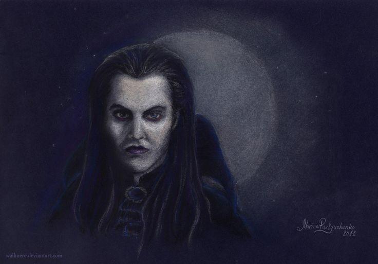 "Ivan Ozhogin as Graf von Krolock from the russian version of musical ""Tanz der Vampire"" Pastel, A4"