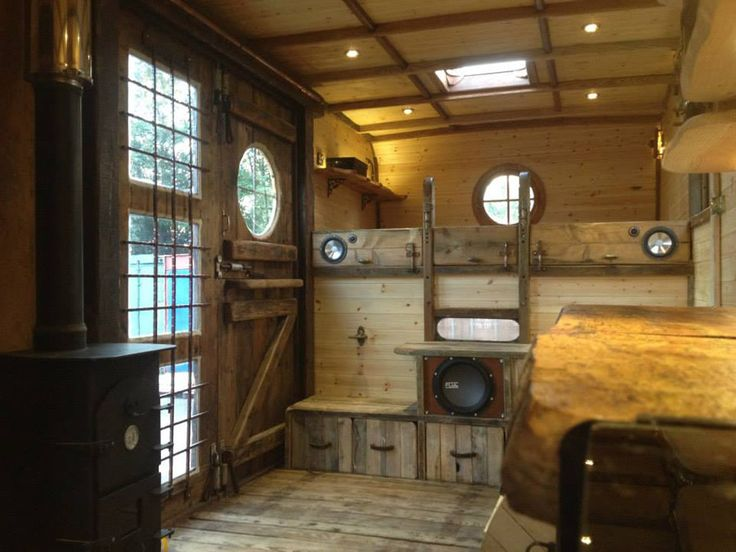 A 1980 Bedford TK Horsebox converted into a traveling tiny home house truck in The United Kingdom. Built by HouseBox.