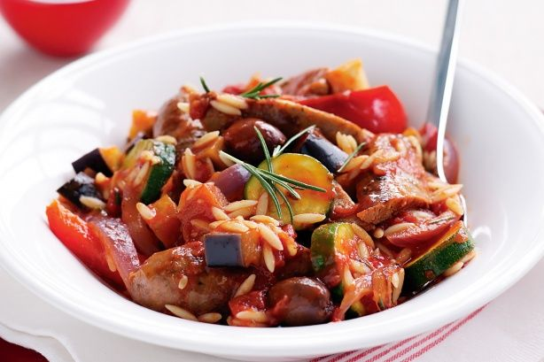 Sausage and risoni stew main image