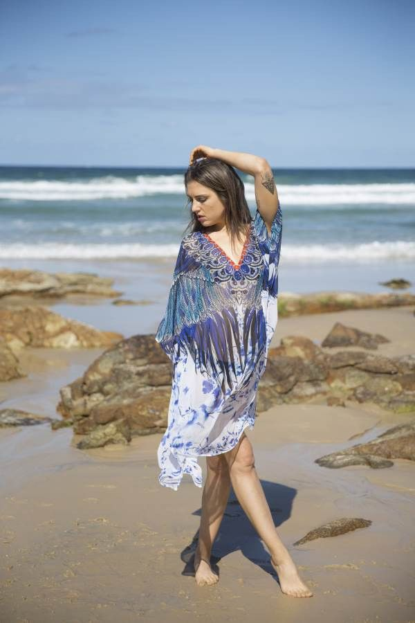 Shop the amazing Embellished Kaftan Australian Designer SV363 Blue Short V Neck Kaftan online now, get FREE shipping on all orders over $100 in Australia. Pay via AfterPay & ZipPay. We ship WORLDWIDE! #celebfashion #celebstyle #style #afterpay #clothingboutique #zippay #onlinestore #australianboutique #shopnow #onehoneyboutique #onehoney #polipay #onlineboutique #aussieboutique #fashion  https://goo.gl/RWFp8Q