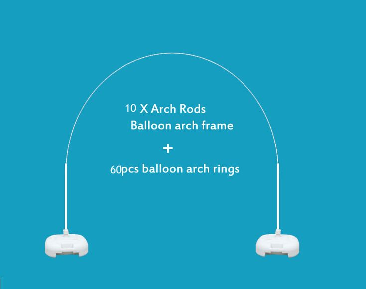 Big Size Balloon Arch Frame Kit Party Decor - 10 x Arch Rods