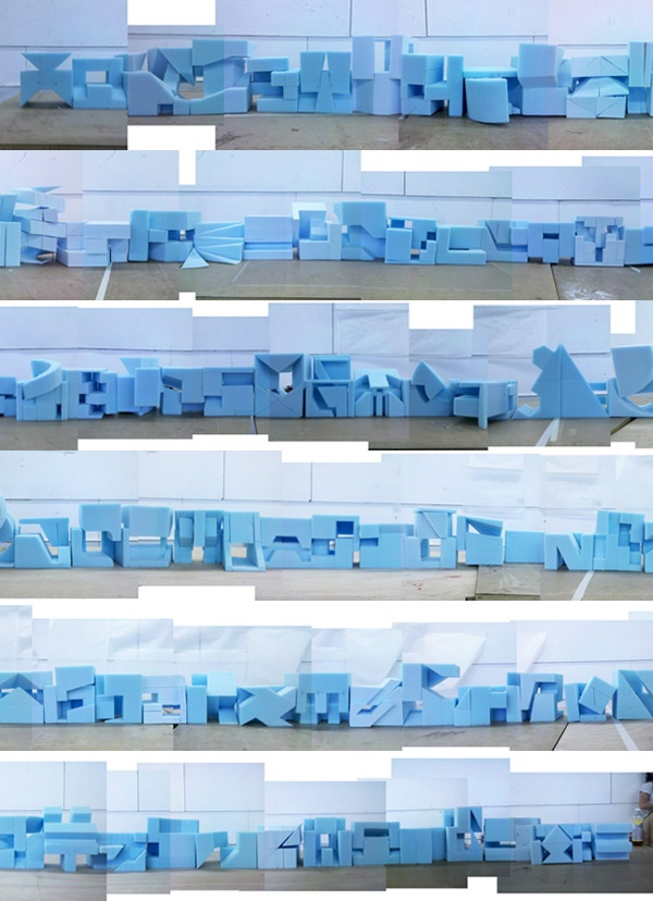 Blue foam massing models for form studio next year.