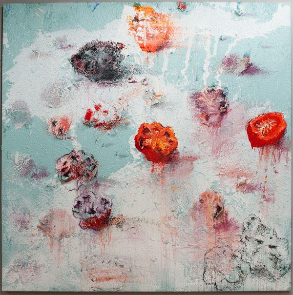 Miquel Barceló - «Préhispanique» (2009) Mixed media on canvas 235x235cm