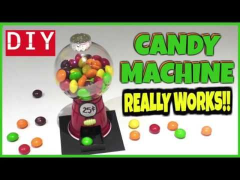 EASY DIY MINI CANDY MACHINE-WORKS - CANDY CRAFTS FOR KIDS -PLASTIC CUP &...