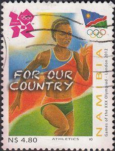 Stamp: Running (Namibia) (Olympic Games - London) Mi:NA 1412