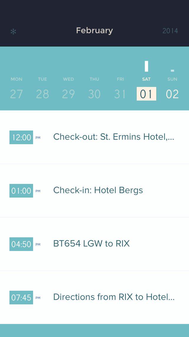 remedios por horas / Peek Calendar
