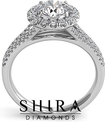 Popular Round Halo Split Shank Diamond Engagement Rings in Dallas texas Micropave Shira Diamonds Halo Diamond Engagement Wedding Rings and Settings Over Million