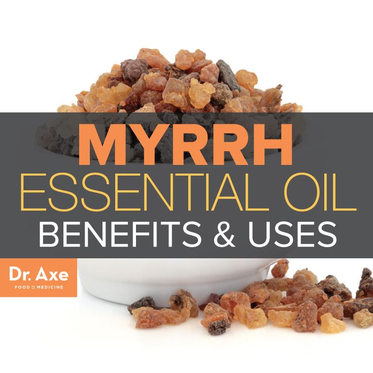 ∆ Myrrh Essential Oil...Myrrh essential oil has been used for thousands of years in traditional healing therapies and in religious ceremonies. Common myrrh oil uses historically, include:      Fragrance     Embalming     Flavoring for food     Treating hay fever     As an antiseptic to clean and heal wounds     As a paste to help stop bleeding
