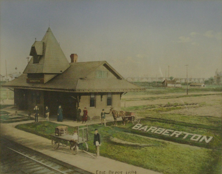Erie Depot Barberton Ohio -- Now located on the other side ...