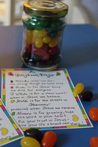 The Jellybean Prayer- free printable. Neat gospel presentation from colors of jelly beans