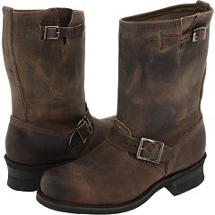 Frye Engineer 12W in Smoke  Was looking for knee-high, flat, gray boots for Fall, and stumbled across these babies. So not what I was looking for, but I love them. Not sure I could pull them off, though?
