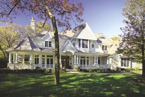 FWC Architects in Chicago.Beautiful Homes, Fwc Architects, Dreams House, Home Design, Heart House, Wrap Around Porches, New Construction, Front Porches, Architects Chicago