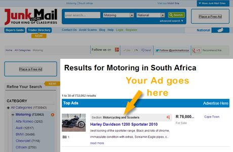 Free Classifieds in South Africa | Junk Mail Classifieds