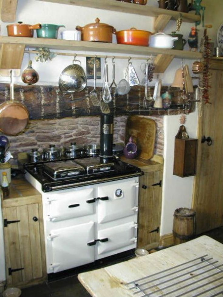 1999 best cottage kitchens images on pinterest cottage for Country farmhouse kitchen ideas