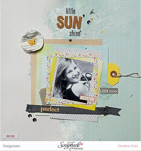 Layout-Hintergrundgestaltung mit Gesso und Mr. Hueys - Designteam Arbeit Christine Robl