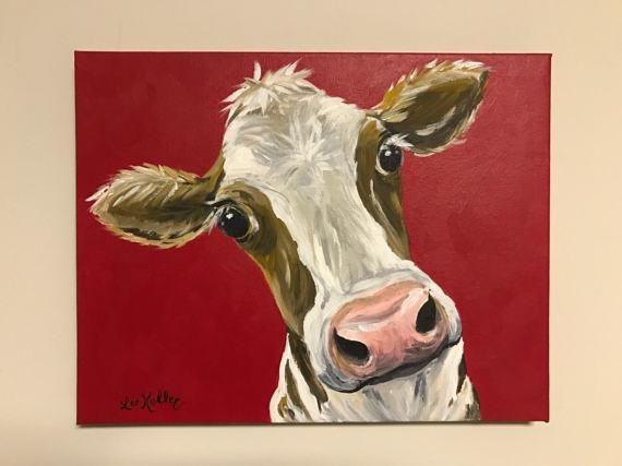 Cow Art Cow Prints Canvas Cow Art Print Canvas Cow Decor From