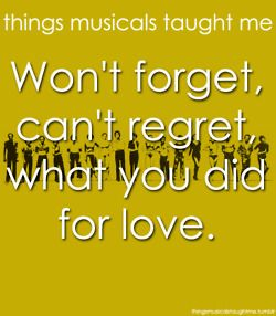 Things Musicals Taught Me - What you did for love, A chorus Line