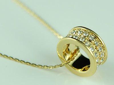 """Επίχρυσο Κολιέ με Δαχτυλίδι και Κρύσταλλα Sawrovski """"Lianna"""" - memoirs.gr"""