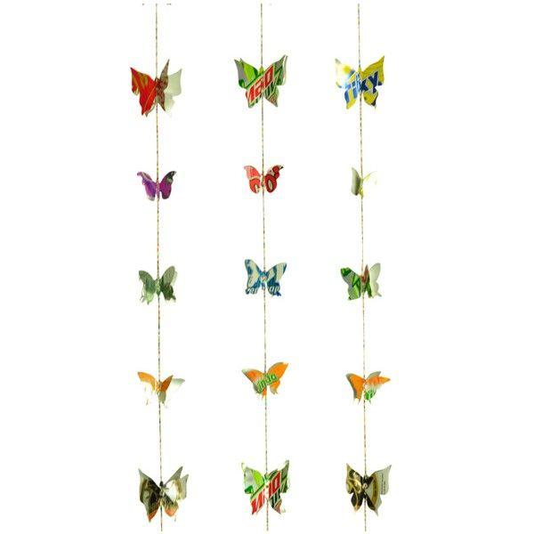 Vlinderslingervan gerecyclede frisdrank blikjes eco & fair design