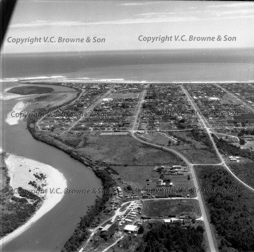 Historic NZ Aerial Photographs Hokitika, 1960