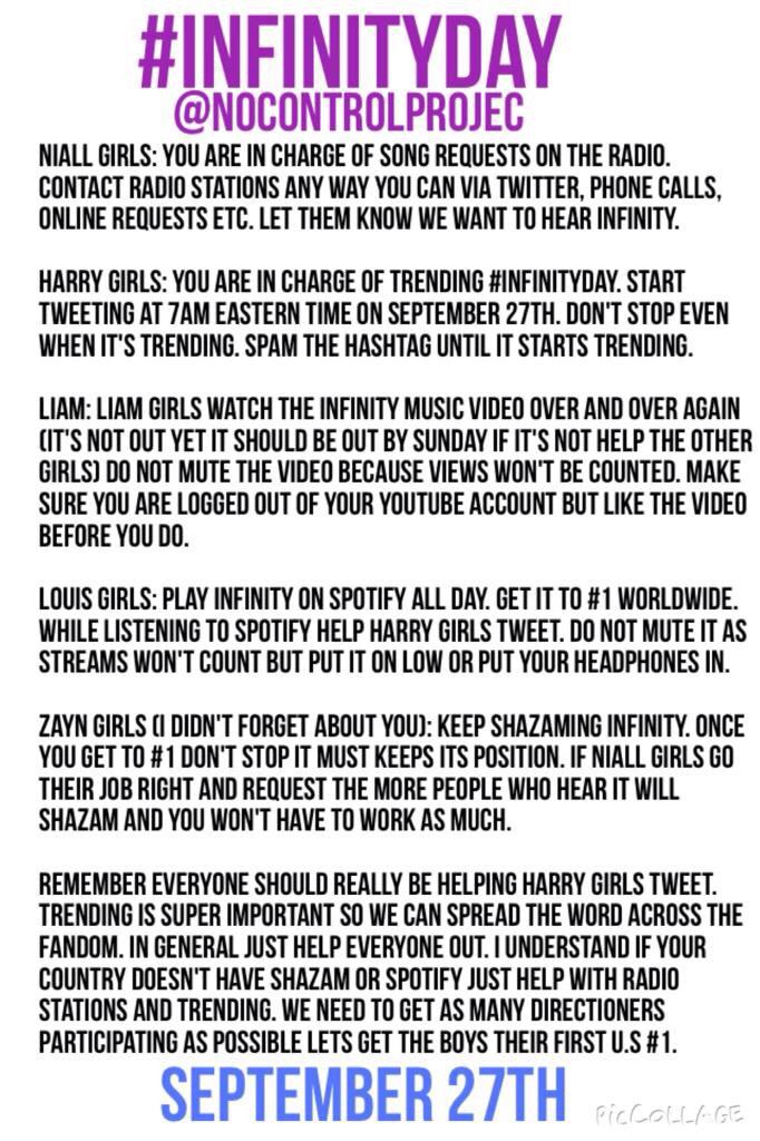 Do whatever you can to help #InfinityDay