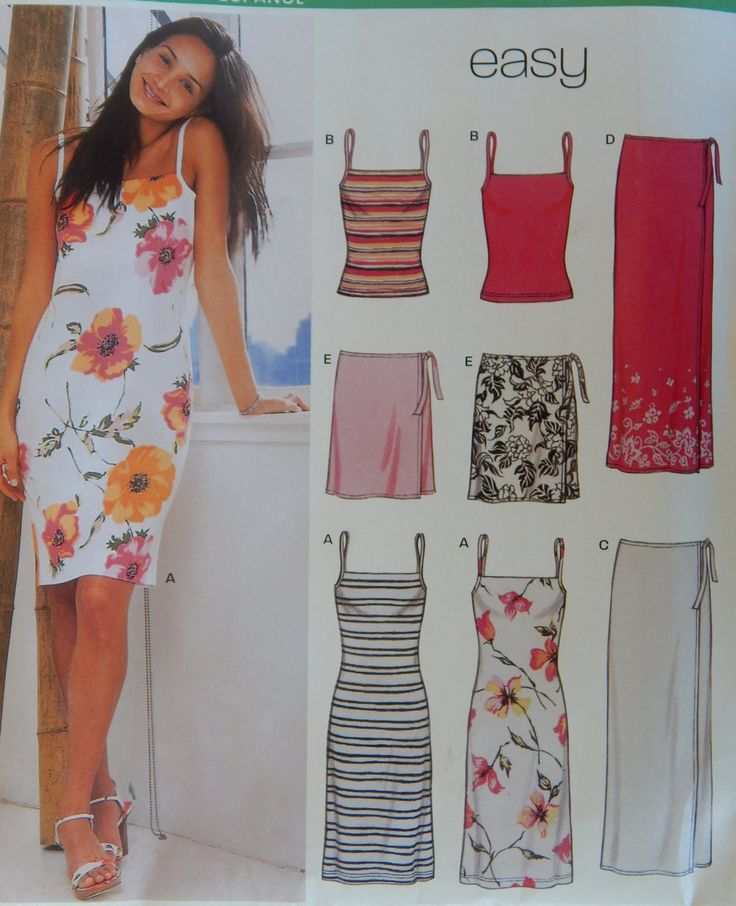 Dress,Top with Shoulder Straps and Wrap Around Skirt Sewing Pattern/New Look 6178 Easy/ Size 8-10-12-14-16-18/ Summer,optional lengths/Uncut by RedWickerBasket on Etsy