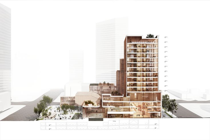 Gallery of Henning Larsen Wins Competition for Microclimate-Creating Civic Center in Toronto - 11