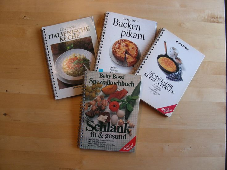Set of 4 Betty Bossi vintage cookbooks in German by BrockiStop on Etsy