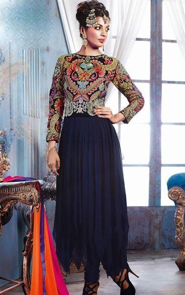 Impressive Blue Designer Salwar Kameez