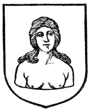 A Complete Guide to Heraldry., 1909, Fig. 256.—A woman's head and bust.