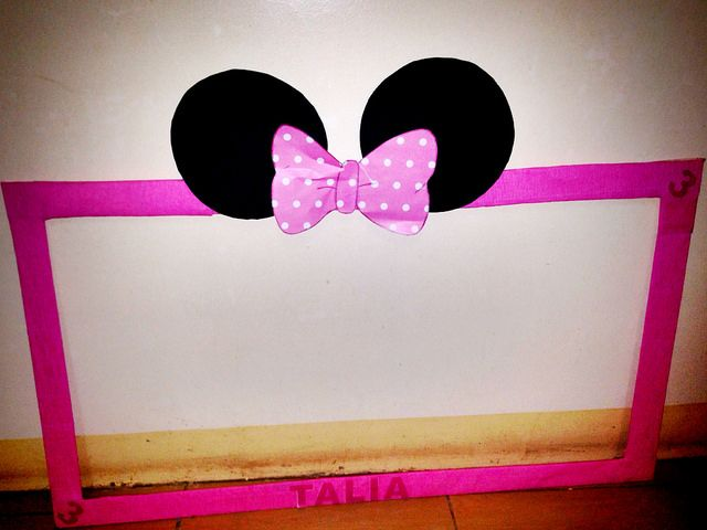 Minni mouse photo booth