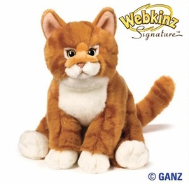 Webkinz Signature Orange Tabby Cat  i want it,i will name it firestar.   i really want this mom