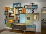 Furniture made of reclaimed ones from shelterness