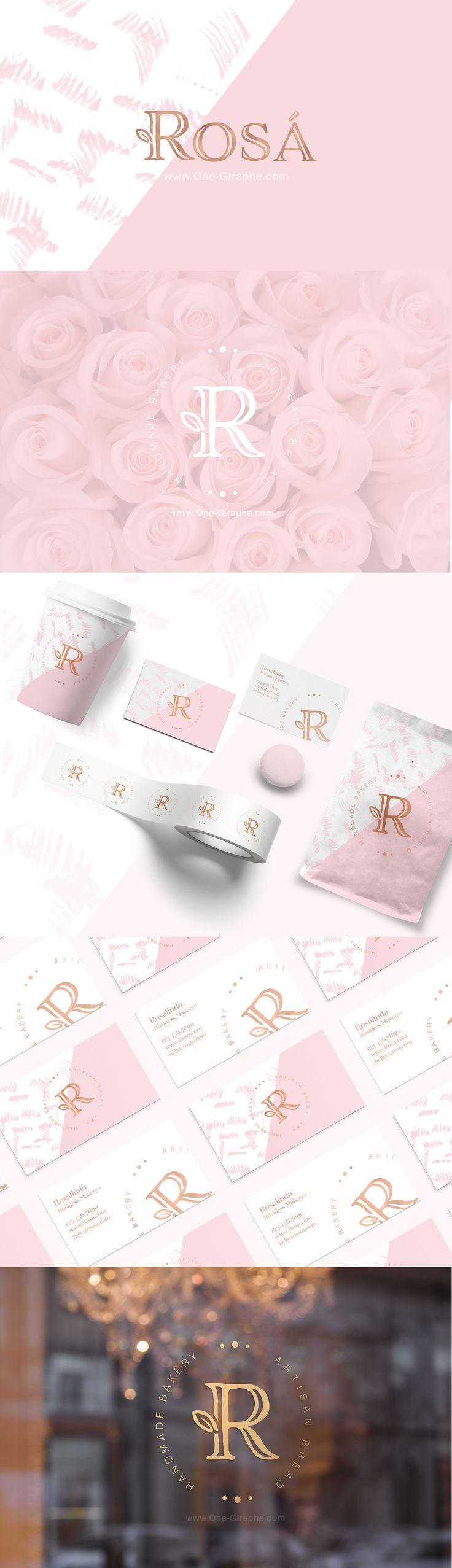 Rosa - logo for sale! www.One-Giraphe.com on Behance