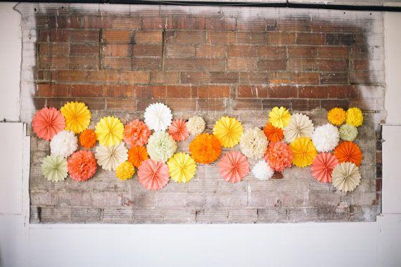 Matrimonio cerimonia sfondo Photo Booth Prop pompon di di pomtree