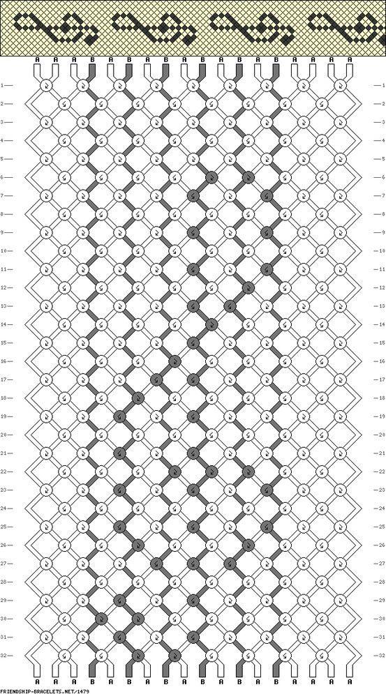 treble bracelet pattern