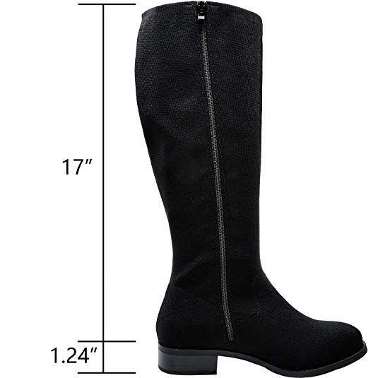 f68c6def3ddcf Amazon.com   Women's Wide Width Knee-High Boots, Chunky Block Low ...